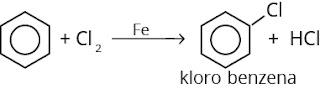 reaksi pembuatan halogen benzena