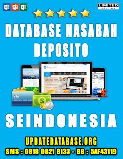Jual Database Nasabah Deposito Seindonesia