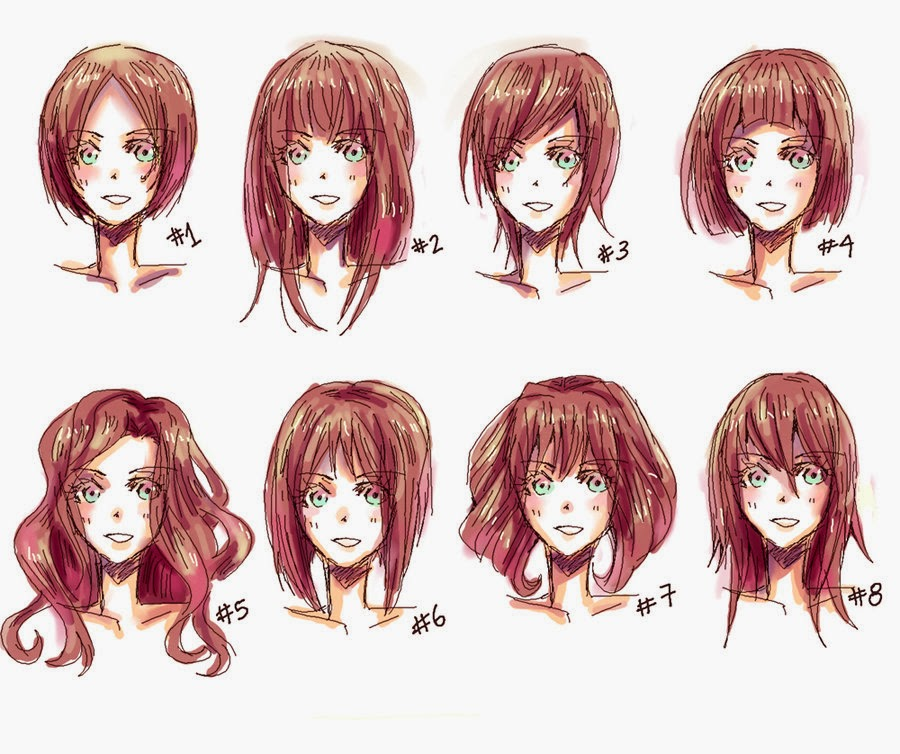 Girl Hairstyle Reference: Hyuu~♥ Une Infinitée De Manga !: 2/ Apprendre à Dessiner