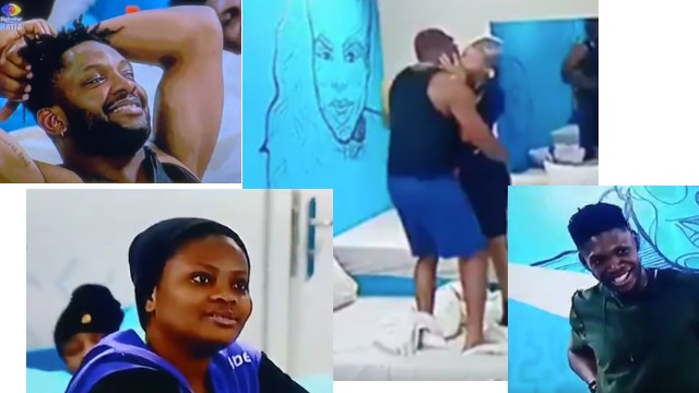 #BBNaija: Pere and Beatrice Passionate Kiss Left Housemates in Awe