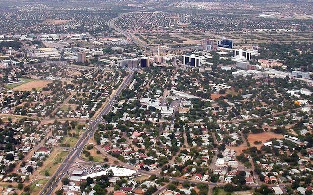 Foto aérea de Gaborone – Botsuana