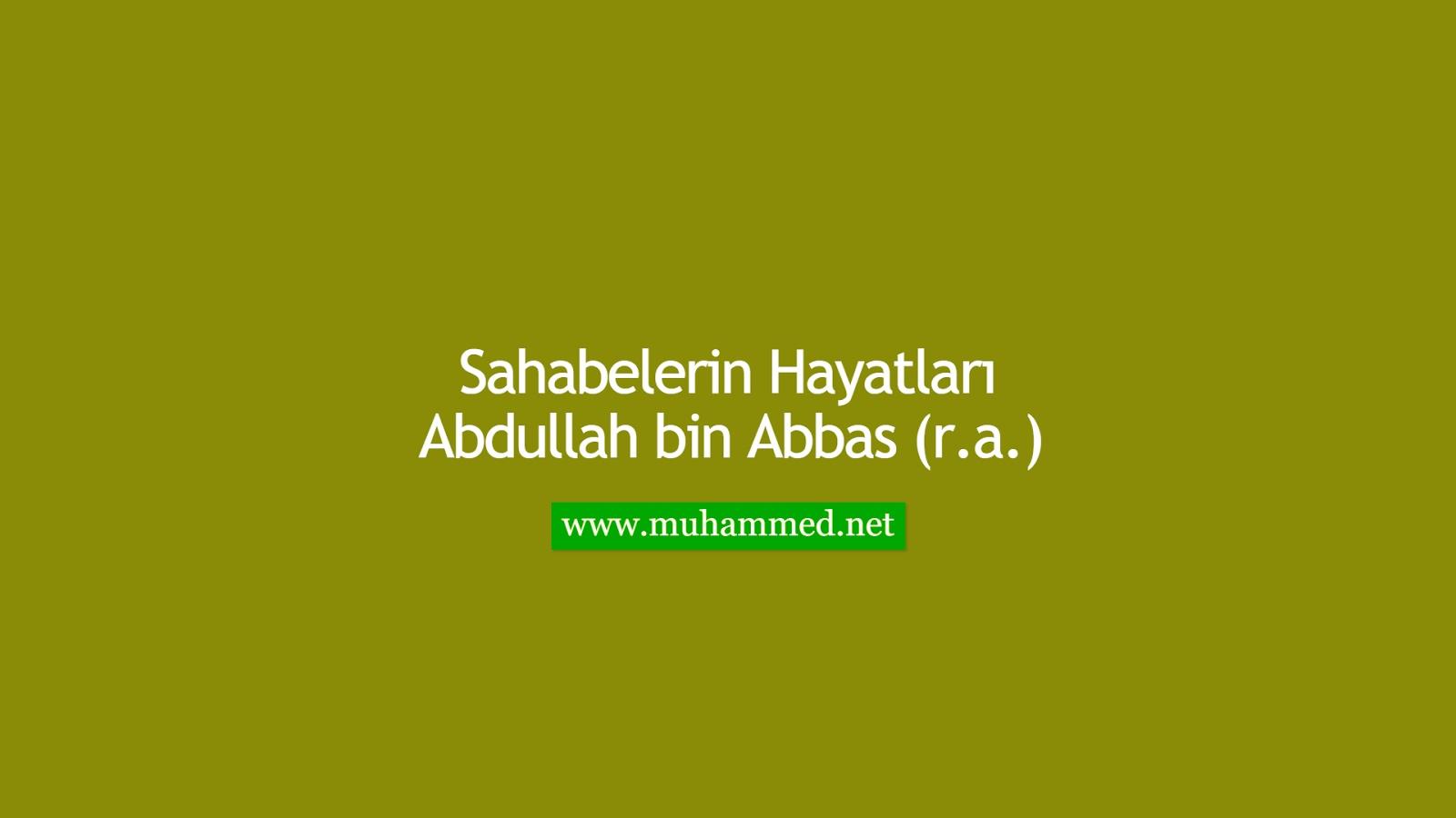 Abdullah bin Abbas (r.a.)