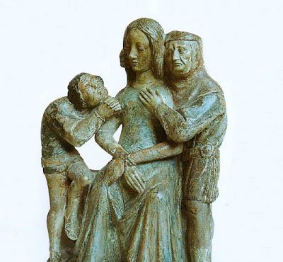 Carcereiros tentam violar a Santa. Fazia parte da manobra arranjada pelos juízes eclesiásticos.