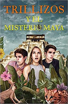 tapa libro trillizos y el misterio maya