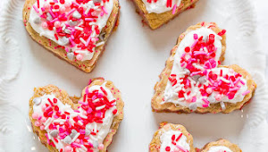 Soft Frosted Valentine Heart Cookies