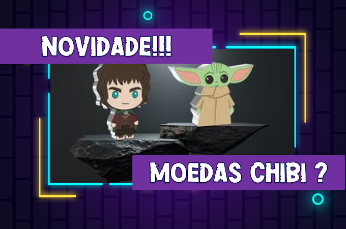 MOEDAS CHIBI – O estilo e arte dos animes agora em moedas
