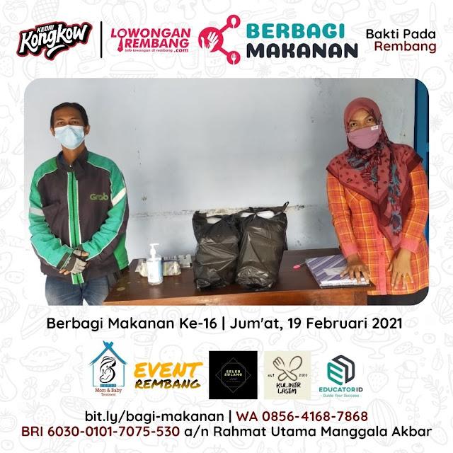 Dokumentasi Berbagi Makanan Ke-16 Dari Kedai Kongkow Rembang Dan Lowongan Rembang