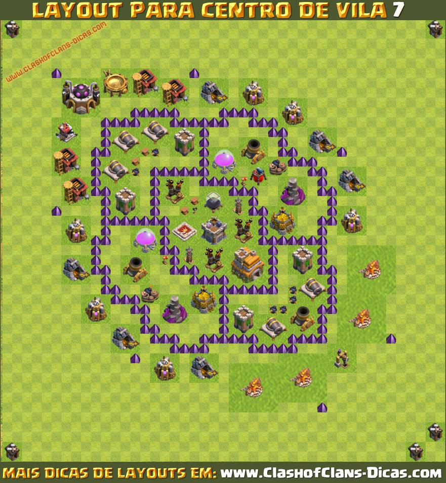 layouts de cv7 para clash of clans your clash code