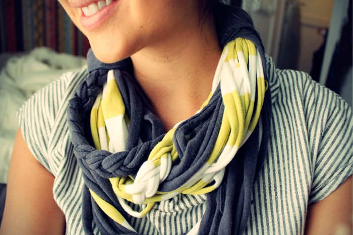 D.I.Y: Recycled T-Shirt Scarf
