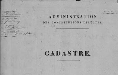 Archives Départementales de Vendée, cas concret de recherches au XIXème siècle : le cadastre
