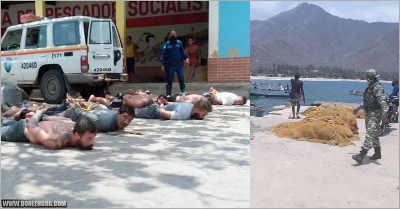 Régimen asegura que detuvo a 8 mercenarios intentando entrar por Chuao de Aragua para matar a Maduro