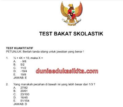43 Jenis Soal Latihan Seleksi CPNS Tahun 2018 Serta Kunci Jawaban