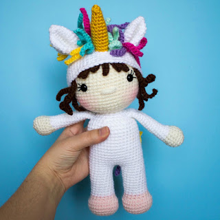 unicorn doll free crochet pattern