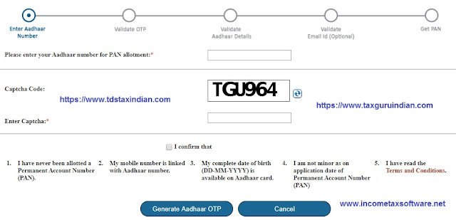 Pan Card Application