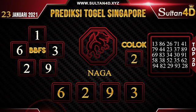 PREDIKSI TOGEL SINGAPORE SULTAN4D 23 JANUARI 2021
