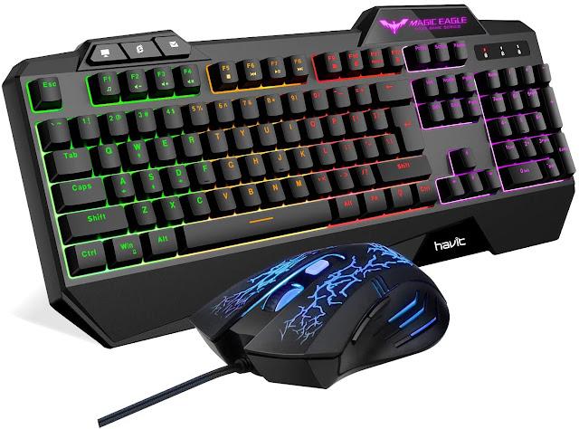 HAVIT Rainbow Backlit Keyboard & Mouse