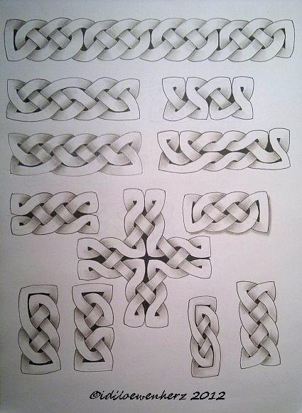 Idiloewenherz Keltische Knoten