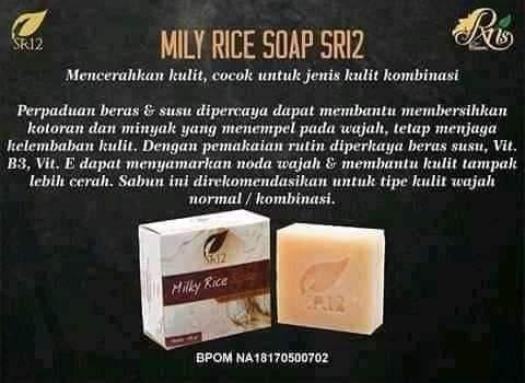 Jual Milky Rice Soap SR12 Dengan Harga Murah Untuk Tasikmalaya