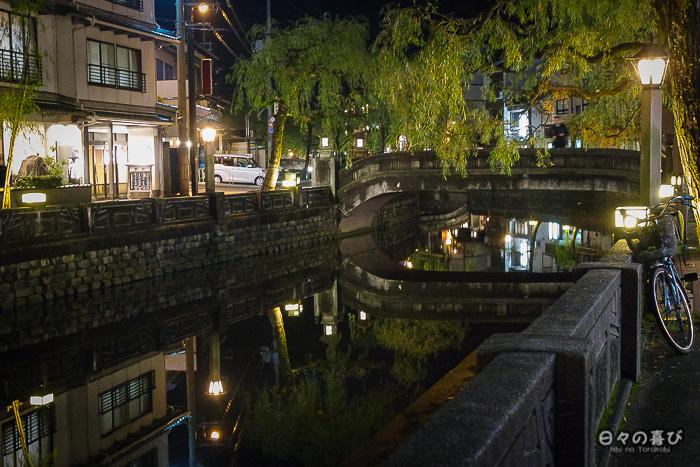 canal kinosaki onsen nocturne