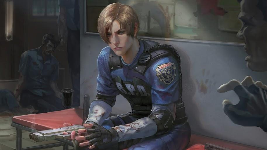 Leon S Kennedy Resident Evil 2 4k Wallpaper 17
