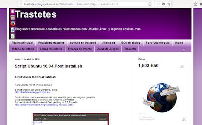 Script Ubuntu 16.04 Post Install.sh