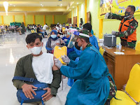Kodim Bojonegoro, Bersama Unigoro dan Hipakad Kompak Laksanakan Serbuan Vaksinasi Nasional
