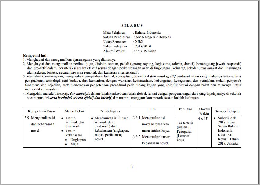 Download Rpp B Indonesia Smp Kurikulum 2013 Kelas Vii Semester 1 Dan 2 Pendidikan Cute766
