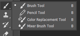 Brush dan Pencil Tool Toolbox Adobe Photoshop