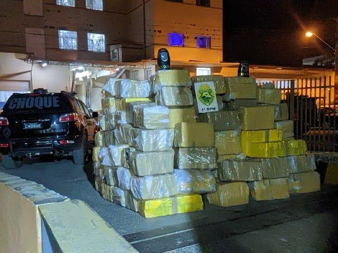 Prudentópolis: Polícia Militar apreende carreta com 3,6 toneladas de maconha