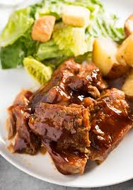 Instant Pot Pressure Cooker ribs and salad
