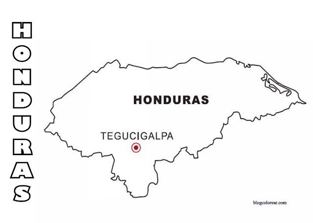 colorear bandera Honduras