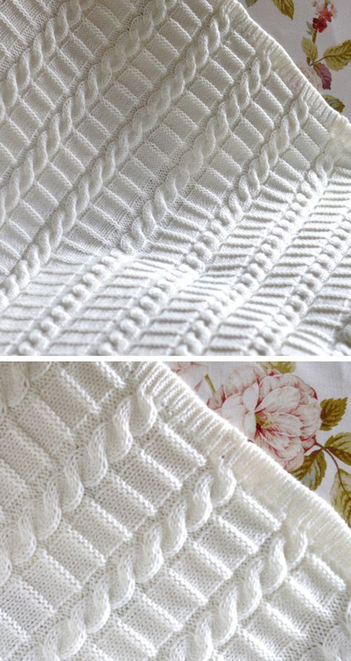 Easy Cable Blanket - Knitting Pattern