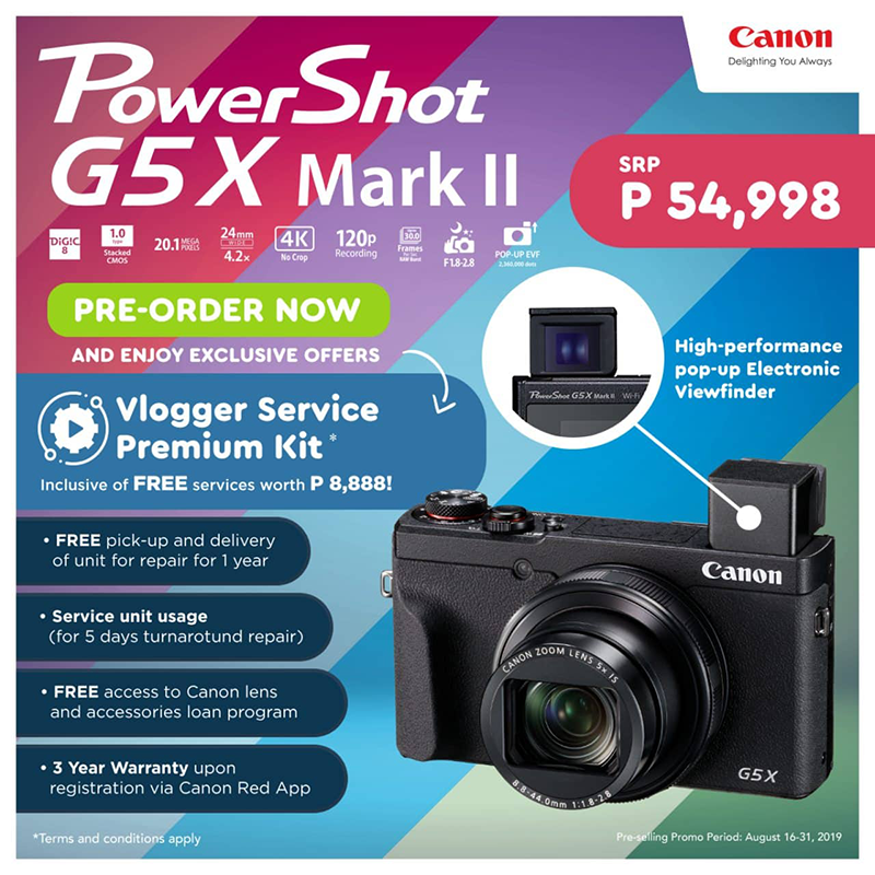 Canon G5X rootraw II