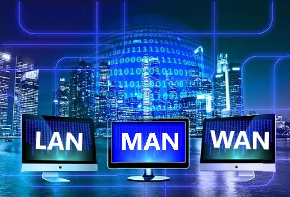 perbedaan jaringan LAN, MAN, dan WAN