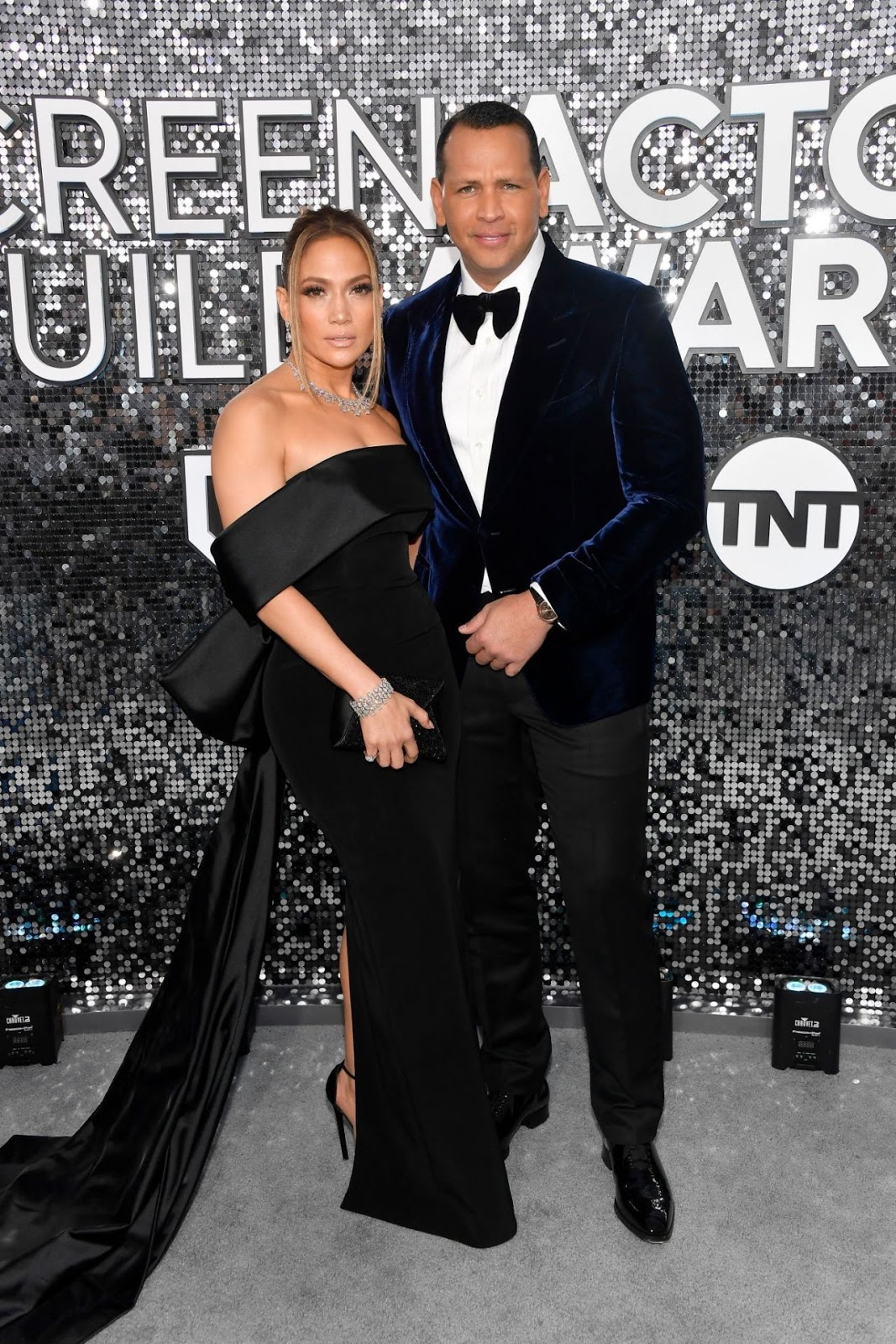 Jennifer Lopez dazzles in $9M worth of diamonds with Alex Rodriguez at SAG Awards in LA