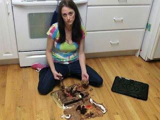 Se cae tarta al suelo