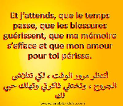 كلام جميل بالفرنسية مترجم بالعربية