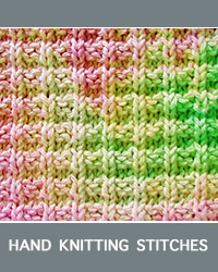 Learn Ridge Rib Knit Purl Pattern with our easy to follow instructions at HandKnittingStitches.com