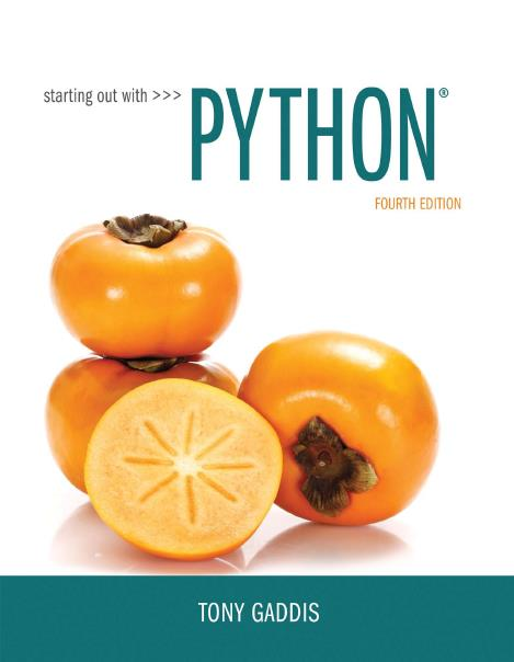 Starting Out with Python, 4th Edition