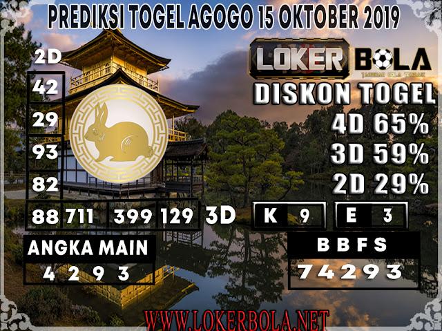 PREDIKSI TOGEL AGOGO LOKERBOLA 15 OKTOBER 2019