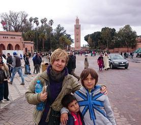 Marrakech, en la Plaza Djemaa el Fna.