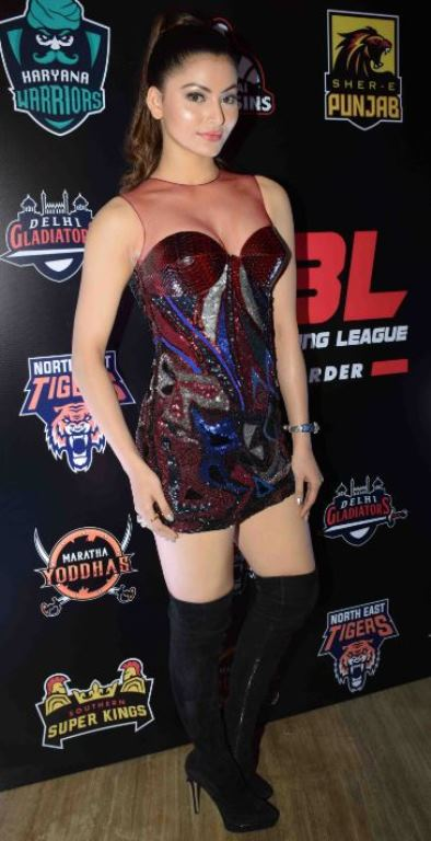 Urvashi Rautela During The Red Carpet Of Super Boxing League