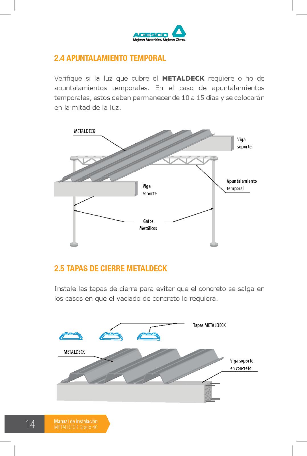 Lenis Architecture: Manual Instalacion Metaldeck grado 40