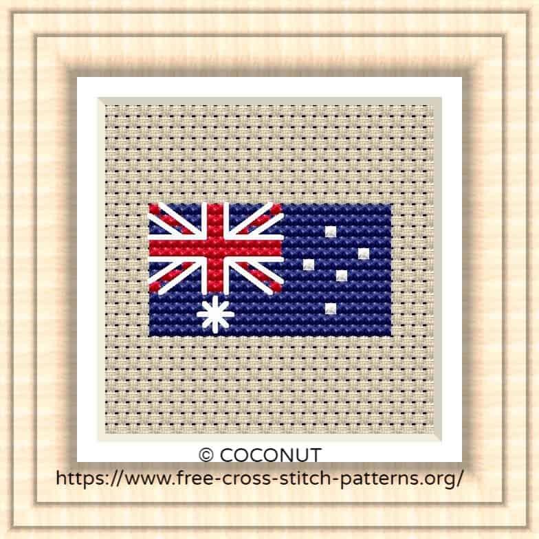 NATIONAL FLAG OF AUSTRALIA CROSS STITCH CHART