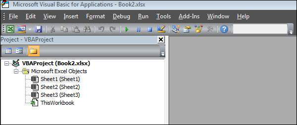 Modules is the area where the code is written. This is a new Workbook, hence there aren't any Modules Shout4Education