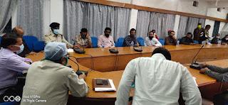 आगामी त्यौहार मुहर्रम के सम्बन्ध मे मुस्लिम धर्मगुरुओ ली बैठक
