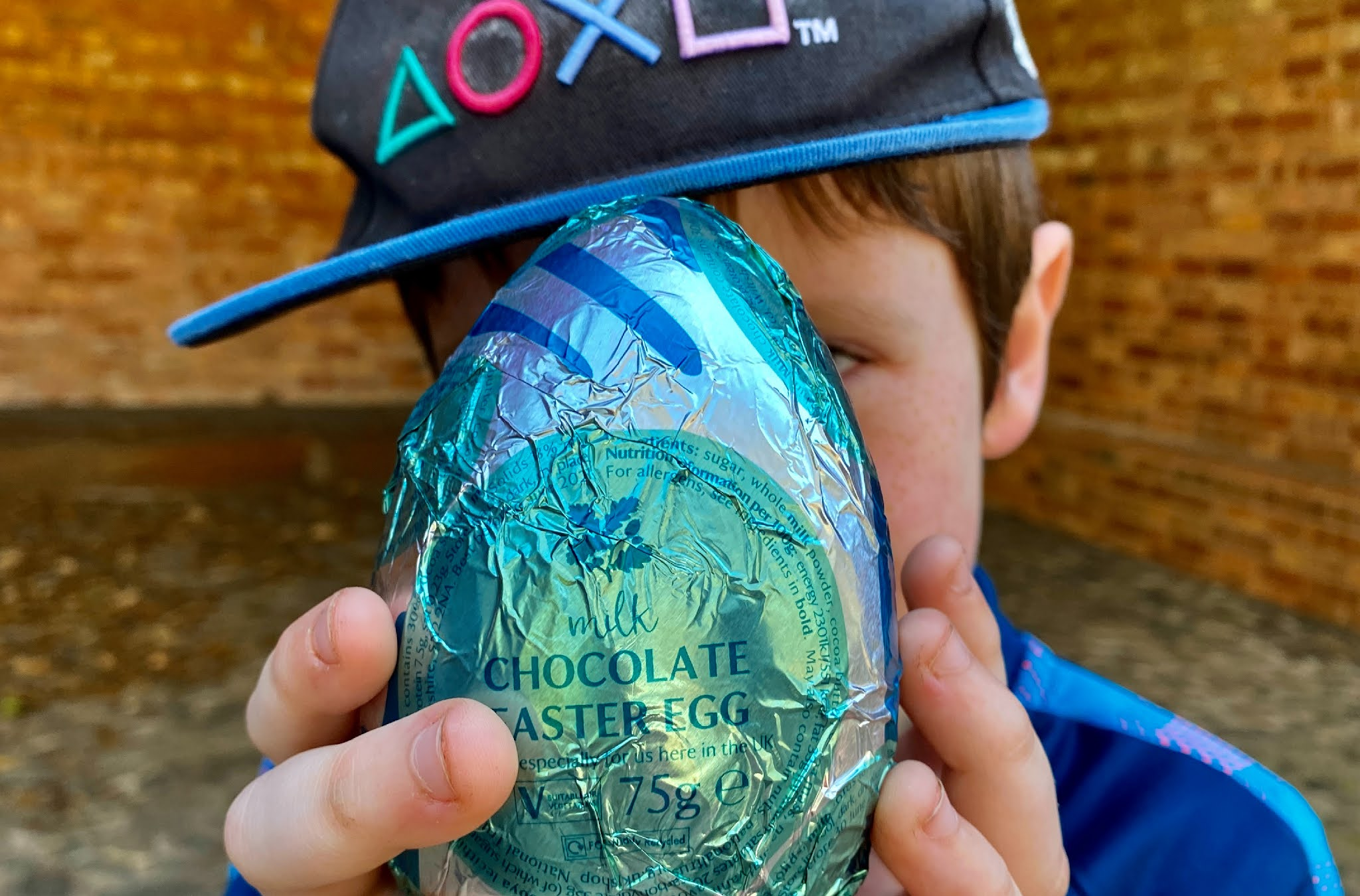 Boy holding an Easter egg