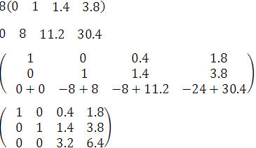 paso 5 para resolver un sistema de ecuaciones en tres variables con el método gauss-joran