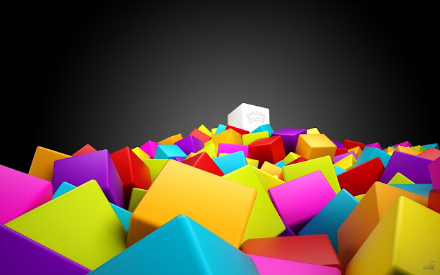 wallpaper 3d cubes