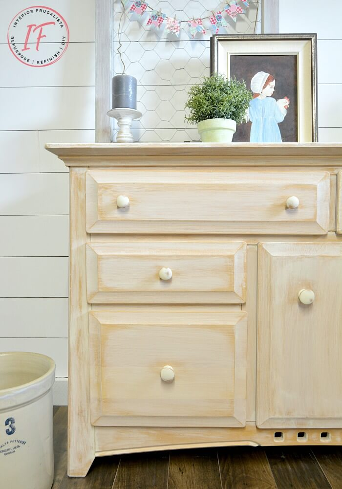 White Farmhouse Sideboard Buffet